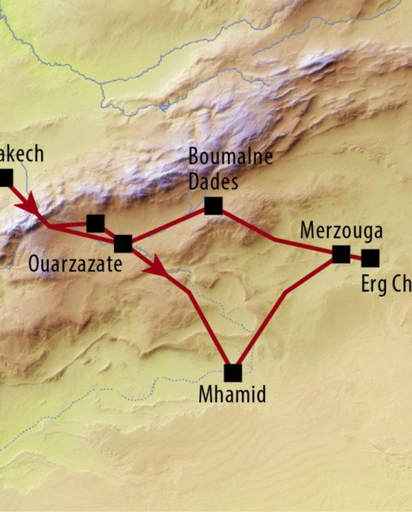 Motorradreise Perfect Tours Marokko Route